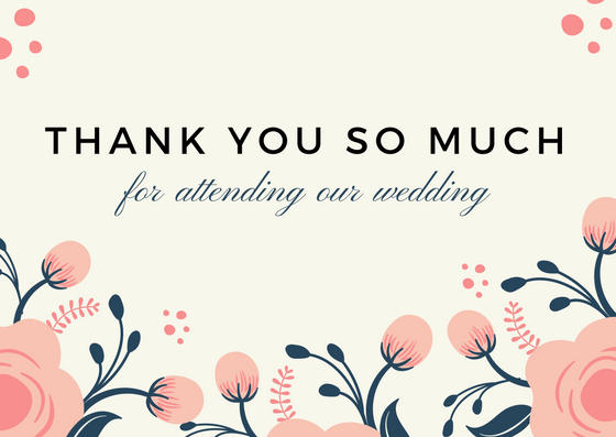 Gift For Wedding Guests Thank You: Wedding Thank You Notes For Guests